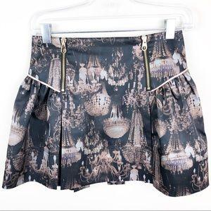 Ted Baker Chandelier Print Skirt Size 0